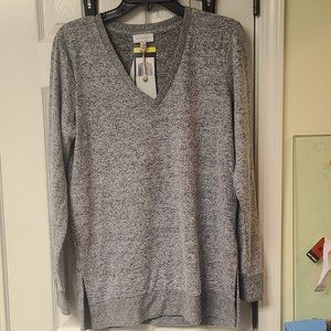 Lucky Brand V Neck Tunic Lightweight Sweater New